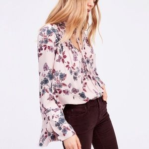 Free People | So Fine Smocked Floral Butterfly Top